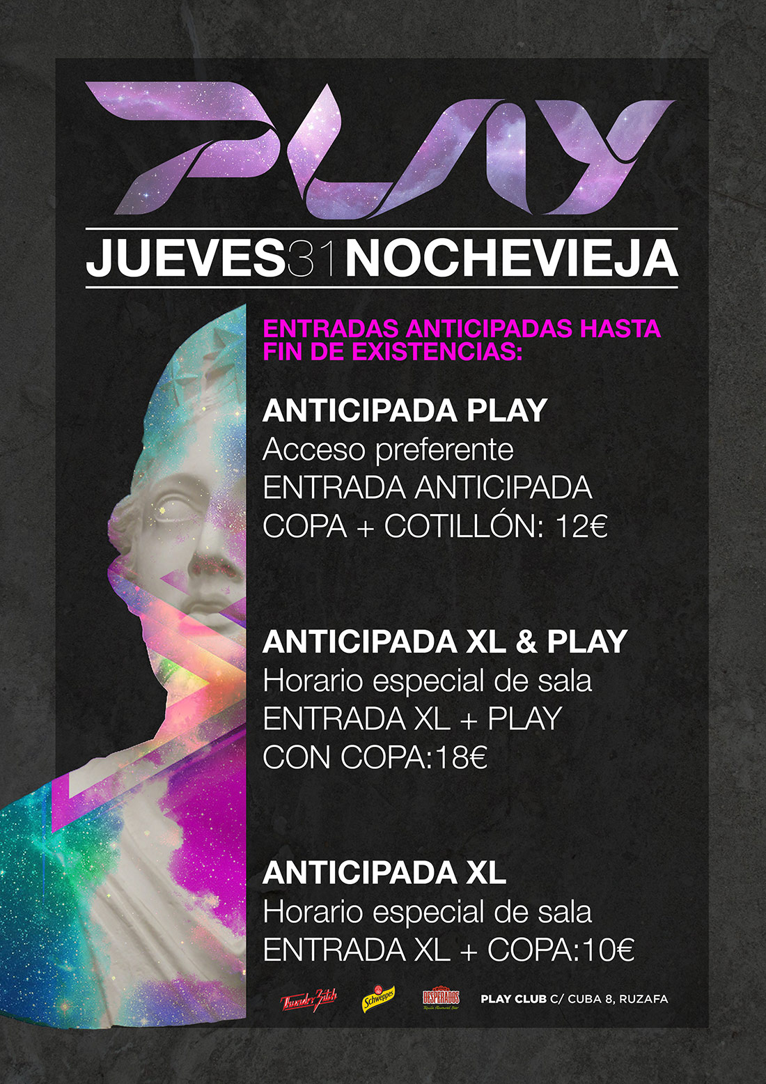 Nochevieja XL y PLAY Club Valencia