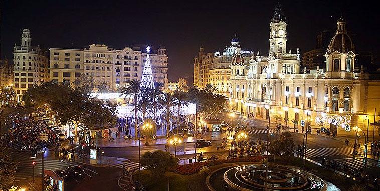 Nochevieja en Plaza del Ayuntamiento Valencia